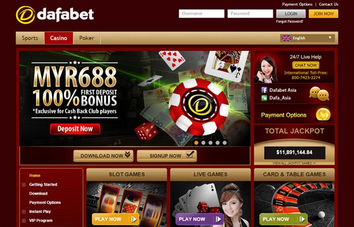 Dafabet Casino variety of games