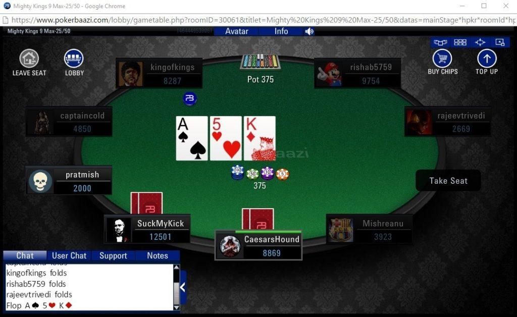 PokerBaazi gambling games